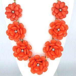 Jewelry - Bold Cheer! Peach-Orange Flower Statement Necklace